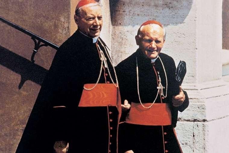 Cardinal Stefan Wyszynski and St. John Paul II, then Cardinal Karol Wojtyla. Photo Courtesy of Adam Bujak/Bialy Kruk.