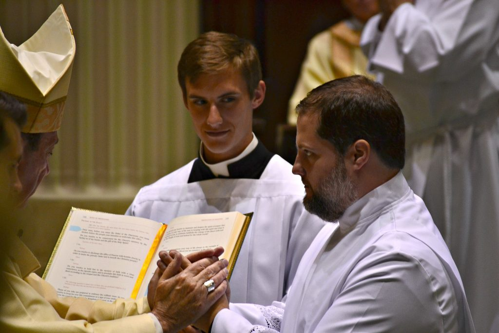 Deacon Andrew Reckers during the Diaconate Ordinatiion 2019