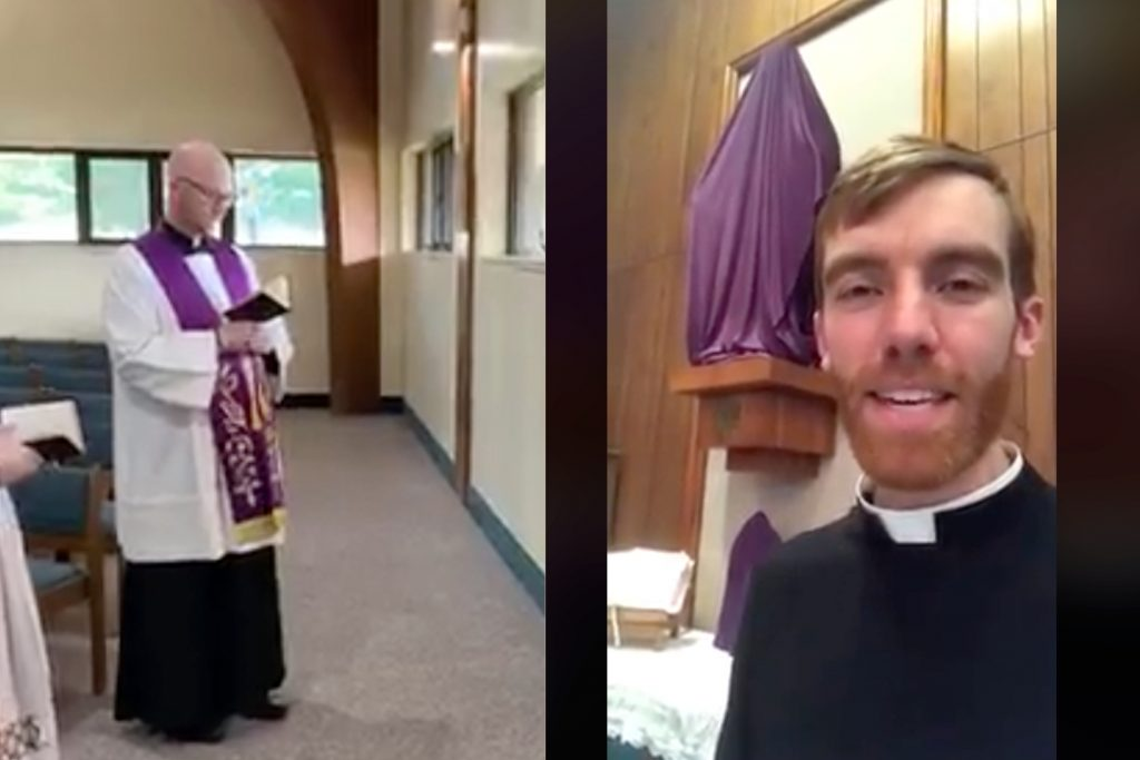 Father Kyle Schnippel (r), Father Jacob Willig  (l)